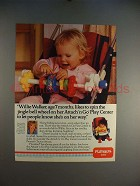 1985 Playskool Attach 'n Go Play Center Ad, w/ Joan Lunden!