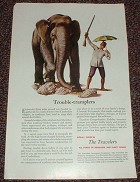 1952 Travelers Insurance Ad, Elephant Trouble Tramplers
