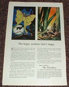 1949 Travelers Insurance Ad, The Happy Medium NICE!!