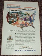 1948 Greyhound Bus Ad, Transportation for All Nation!!