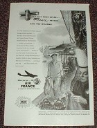 1948 Air France Ad, France Herself Bids You Welcome!