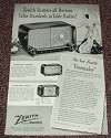 1948 Zenith Radio Ad, Pacemaker, Tournament, Zephyr!!