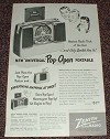 1948 Zenith Radio Ad, Universal Pop-Open Portable!!