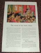 1952 Travelers Insurance Ad, Ritual of the Lucky Limes!