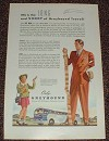 1947 Greyhound Bus Ad, Long and Short of Travel!
