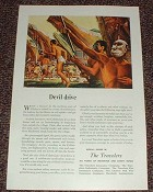 1947 Travelers Insurance Ad, Devil Drive Celebesians!