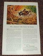 1946 Travelers Insurance Ad - Minstrel Who Loves Home!!