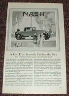 1927 Nash Car Ad - Car That Instantly Catches the Eye!