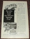 1927 Campbell's Soup Ad - Delicious Vegetable Soup!!!