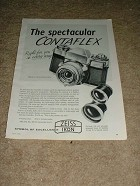 1958 Zeiss Contaflex Camera Ad, NICE!!!