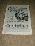 1958 Zeiss Contaflex Camera Ad, Outstanding!!