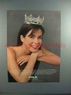 1995 Milk Ad w/ Miss America Heather Whitestone