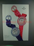 2003 Rolex Orchid Cellini Watch Ad - NICE!