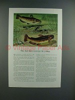 1942 Travelers Insurance Ad w/ Bullhead - Horned Pout