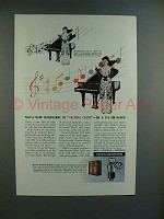 1944 GE FM Radio Ad w/ Hildegarde - Natural Color