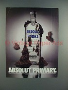 1996 Absolut Vodka - Absolut Primary Ad!