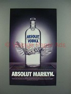 1996 Absolut Vodka - Absolut Marilyn Ad