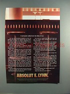 2003 Absolut Vodka - Absolut E. Lynn Ad!