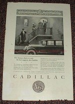 1925 Cadillac V63 Car Ad, Human Desire to Own the Best!