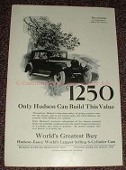 1925 Hudson Super-Six Coach Car Ad, Build This Value!!