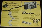 1957 Ricoh Five Hundred Camera 2-pg Ad, NICE!