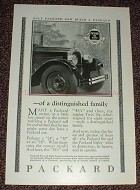 1925 Packard Car Ad - of a Distinguished Family, NICE!!