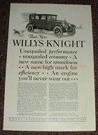 1925 Willys-Knight Car Ad - Performance, Economy NICE!!