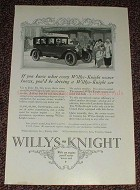 1925 Willys-Knight Car Ad, If you knew... NICE!!
