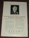1925 Elgin Watch Ad w/ Wm. Wrigley Jr. - Trusty Watch!!