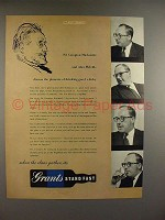 1956 Grants Whisky Ad, Sir MacKenzie, Alan Melville