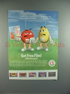 2000 M&M's Candy Ad w/ Red & Yellow - Film Free