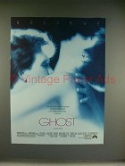 1990 Ghost Movie Ad - Patrick Swayze, Demi Moore