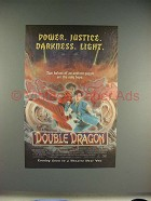 1994 Double Dragon Movie Ad - Power, Justice