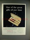 1958 Parker 51 Rolled Gold Cap Pen Ad - Great Gifts