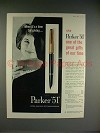 1959 Parker 51 Rolled Gold Cap Pen Ad - Great Gifts