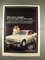 1978 Lancia Car Ad, Concept to Set Apart From Crowd!!