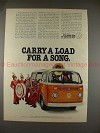 1978 Volkswagen Bus Ad, Carry a Load for a Song NICE!!