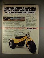 1980 Yamaha Tri Moto Ad, Three Wheels Dozen Advantages!