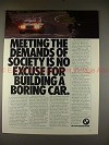 1980 BMW 528i Car Ad, Meeting Demands of Society!!