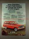 1980 Jeep Cherokee Ad, Change the Shape of your Wagon!
