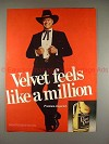 1980 Black Velvet Ad with Larry Hagman - Dallas Star!!