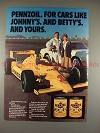 1981 Pennzoil Ad with Johnny Rutherford - NICE!!