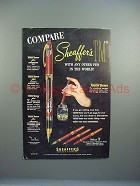 1952 Sheaffer's Valiant TM Pen Ad - Compare!