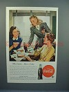 1947 Coke Coca-Cola Soda Ad - Office Lunch