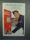 1952 Coke Coca-Cola Soda Ad w/ Air Force officer