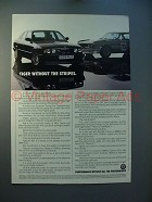 1989 BMW Alpina B10 Car Ad - Tiger w/o the Stripes!