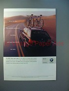 2000 BMW 5 series sport Wagon Ad - Holds the Road
