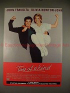 1984 Two of a Kind Ad John Travolta Olivia Newton-John!