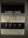 1984 Gorky Park Ad with William Hurt and Lee Marvin!!