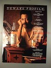 1992 Dewars Scotch Ad with profile of Denys Cowan!!